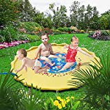 yazi Sprinkle and Splash Play Mat outside toys for infants toddlers and kids (67 inch)