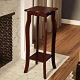 30'' Transitional Eco Friendly Entryway Telephone/Plant Stand in Dark Walnut