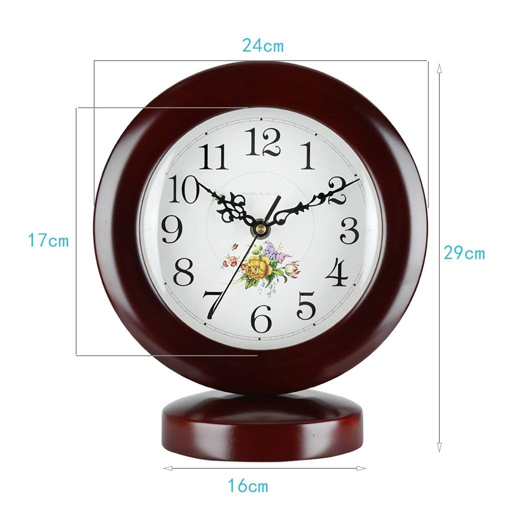 Amazon.com: Family Fireplace Clocks Modern Mute Table Clock Silent Quartz Wooden Table Clocks for Decoration ó Office 16x29cm Suitable for Living Room ...