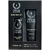 ZEUS Beard Shampoo and Conditioner Set for Men, Verbena Lime