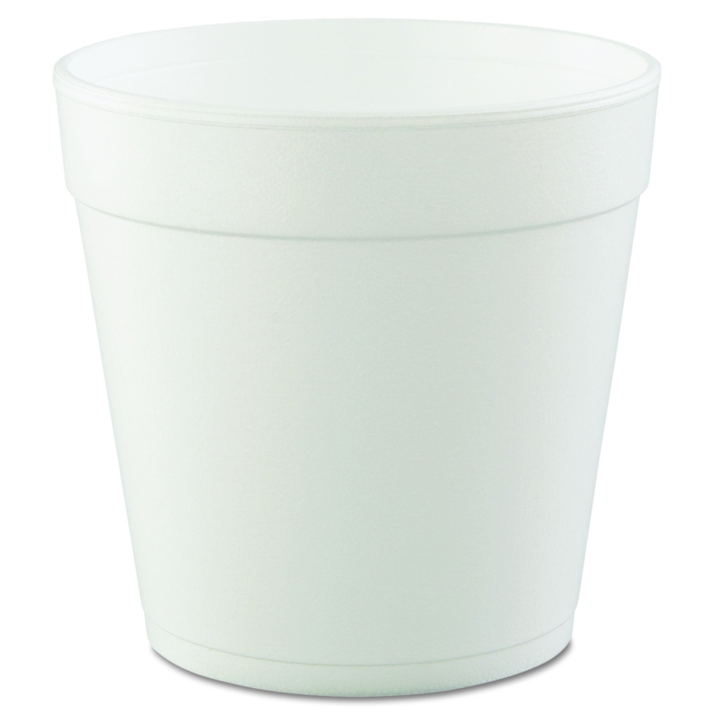 Dart 32MJ48 32 oz Squat Foam Container (Case of 500) , White