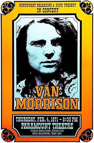 Van Morrison - 1971 - Paramount Theatre - Concert Poster