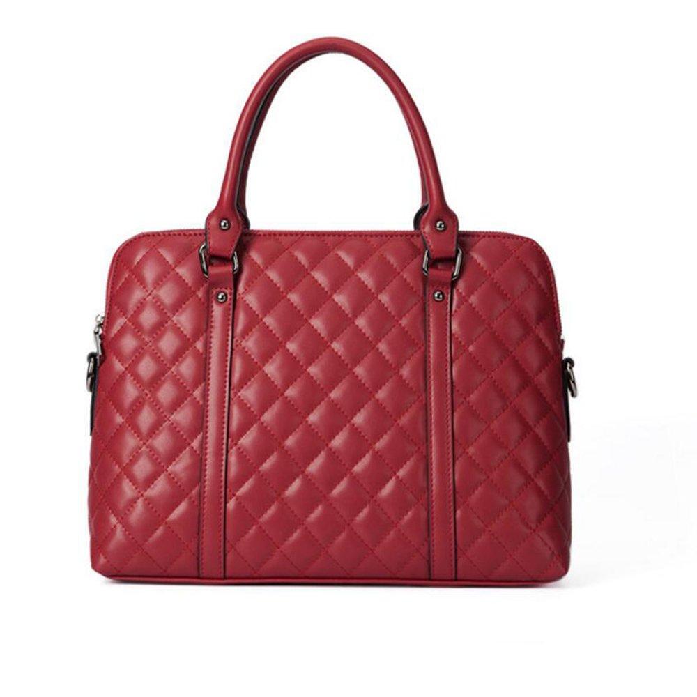JUNBOSI Gehobenen Geschäft Lingge Damen Aktentasche - Leder Laptop-Tasche - Casual Shopping Handtasche - Dinner-Party-Umhängetasche/Messenger Bag