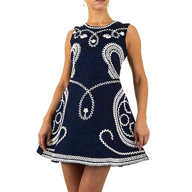 Hemdkleid Besticktes Sommerkleid Schuhcity24 Damen Kleid Minikleid JFclTK13