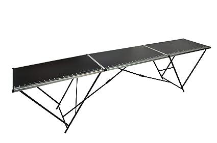 3M METRE BLACK ALUMINIUM FOLDING TABLE FOR DECORATING PASTING WALLPAPER DIY