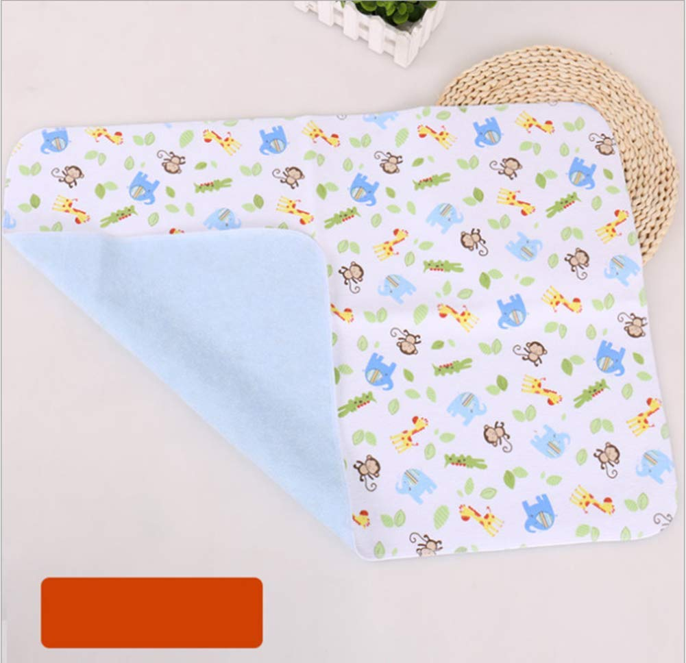 3 Pack B.B Soft Cotton Waterproof Baby Toddler Changing Pads Washable Resuable Diapers Liners Mats 3 Colurs Pack-45x35cm