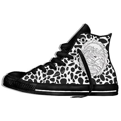 cedf2366bcbc Sagittarius Unicorn Tattoo High Top Canvas Shoes Art Unisex Lace Up  Athletic Plimsolls For Teen black