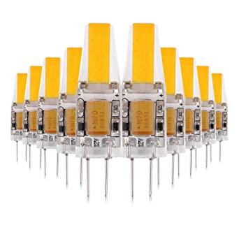 ONLT 10X G4 3W COB LED Bombillas, AC/DC12-24V 4000K 300LM LED