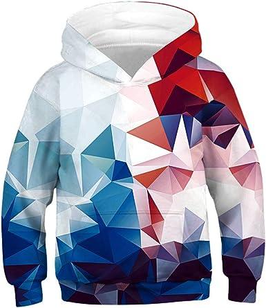 Wenini Teen Kids Boys Girls Galaxy Fleece Sweatshirts Pocket Pullover Hoodies 4-13Y