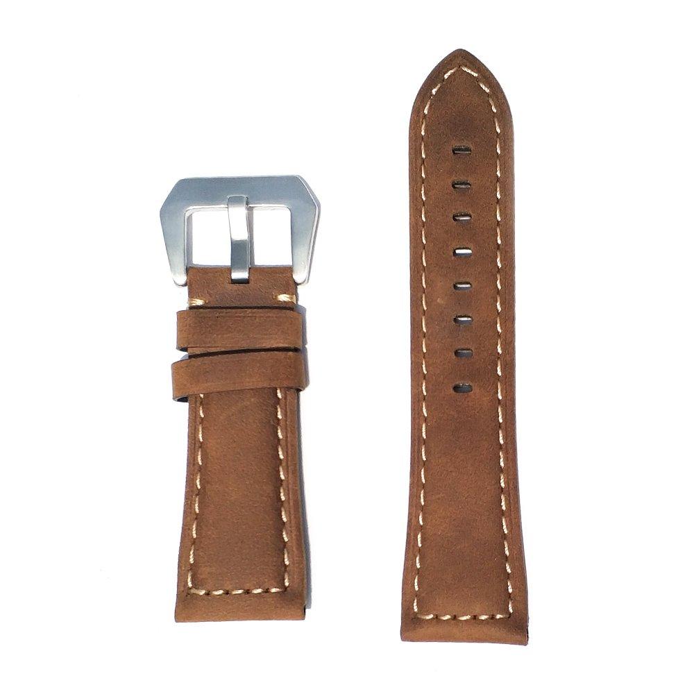 Replacement Watch Band for Garmin Fenix 5X/3/3 HR/D2 Charlie/Descent Mk1 leather -26mm(Darkbrown+SL)