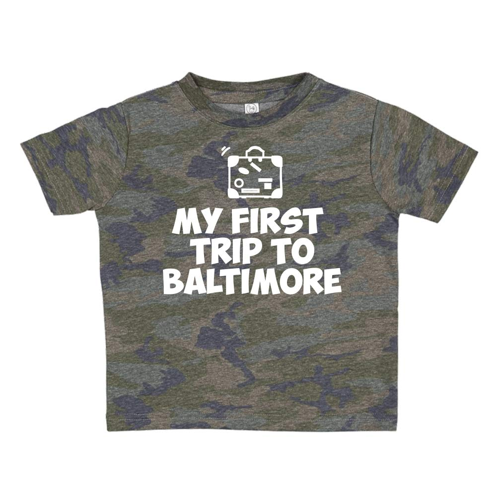 Toddler//Kids Short Sleeve T-Shirt Mashed Clothing My First Trip to Baltimore