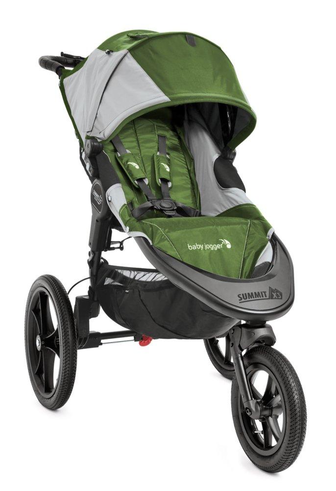 Baby Jogger Summit X3 Single Stroller, Green/Gray