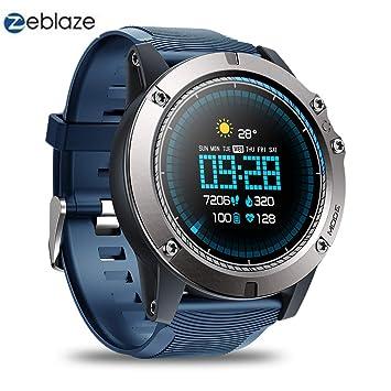 Zeblaze Vibe 3 Pro - Reloj Inteligente Deportivo con Pantalla táctil Colorida IP67, Resistente al Agua, con Control Remoto Militar, para iOS y Android