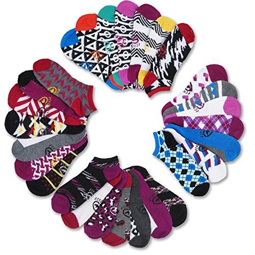 Ecko Red Women's Fun Print Low Cut Ankle Socks (28 Pack) (Style #2)