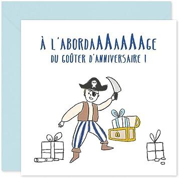 Popcarte 16 Cartes D Invitation Anniversaire Garcon Avec Enveloppes Pirate Amazon Fr Jeux Et Jouets