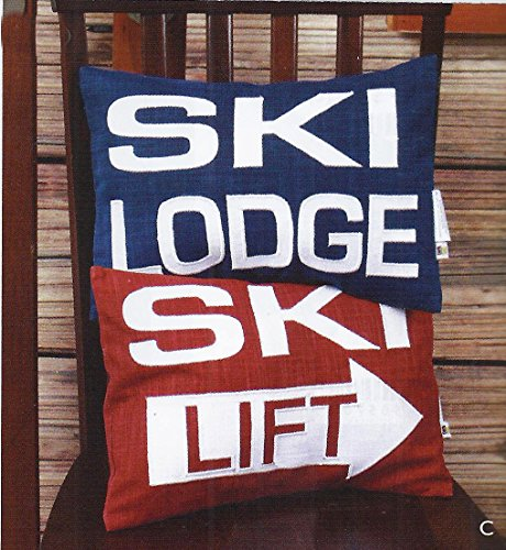 Ski Lodge Decor Pillows, Set of 2 (Party City Utah)
