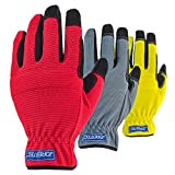 JORESTECH 3 in 1 Value Pack Touch Screen Technology Multipurpose Work gloves (Large, Yellow/Red/Gray)