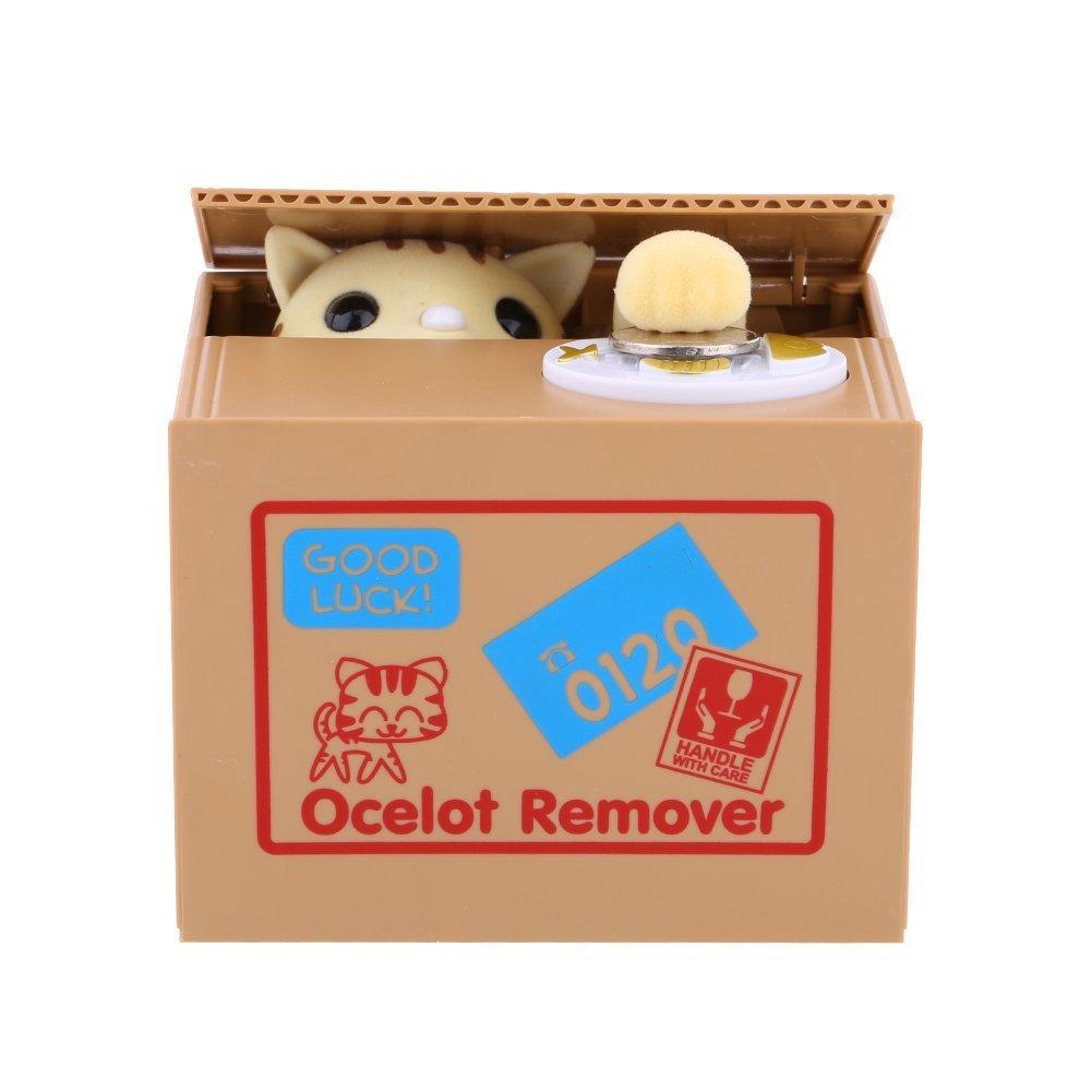 Yosoo Tirelire de Chat, Tirelire Automatique avec Son, Tirelire divertissante de chat qui vole argent, jouets pour enfants, cadeau original product image