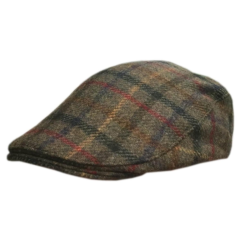 Donegalフラットキャップ 伝統的なアイリッシュツイード帽子 格子柄 B01M7S2RUW M