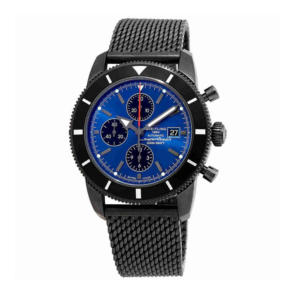 Breitling Superocean Heritage Chronograph自動クロノメーターブルーダイヤルメンズ時計m133201 a/c943ss B07DKQ3MV9