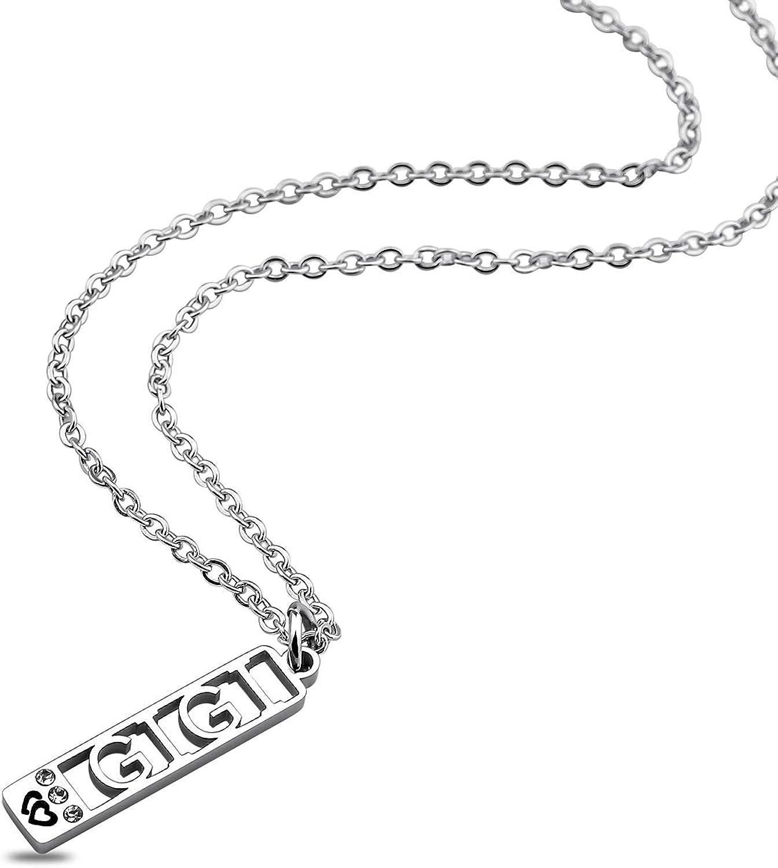ENSIANTH Gigi Necklace Grandma Jewelry Gigi Letter Necklace Nana Mimi Grammy Gigi Gift Family Jewelry
