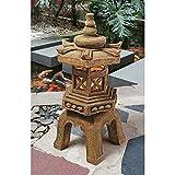 Design Toscano Pagoda Lantern Illuminated Statue (Set of 2)