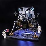BRIKSMAX Led Lighting Kit for Creator NASA Apollo 11 Lunar Lander - Compatible with Lego 10266 Building Blocks Model- Not Inc
