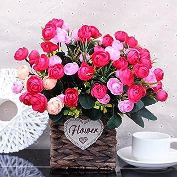 Amazon.com: Emulation flower flowers living room home decor straw ...