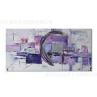 Lee&Jim Quadro su Tela Printed Canvas Wall Art Blocco di Colore Viola Post-modernismo Puro Dipinti a Mano Olio su Tela casa Appeso Pittura