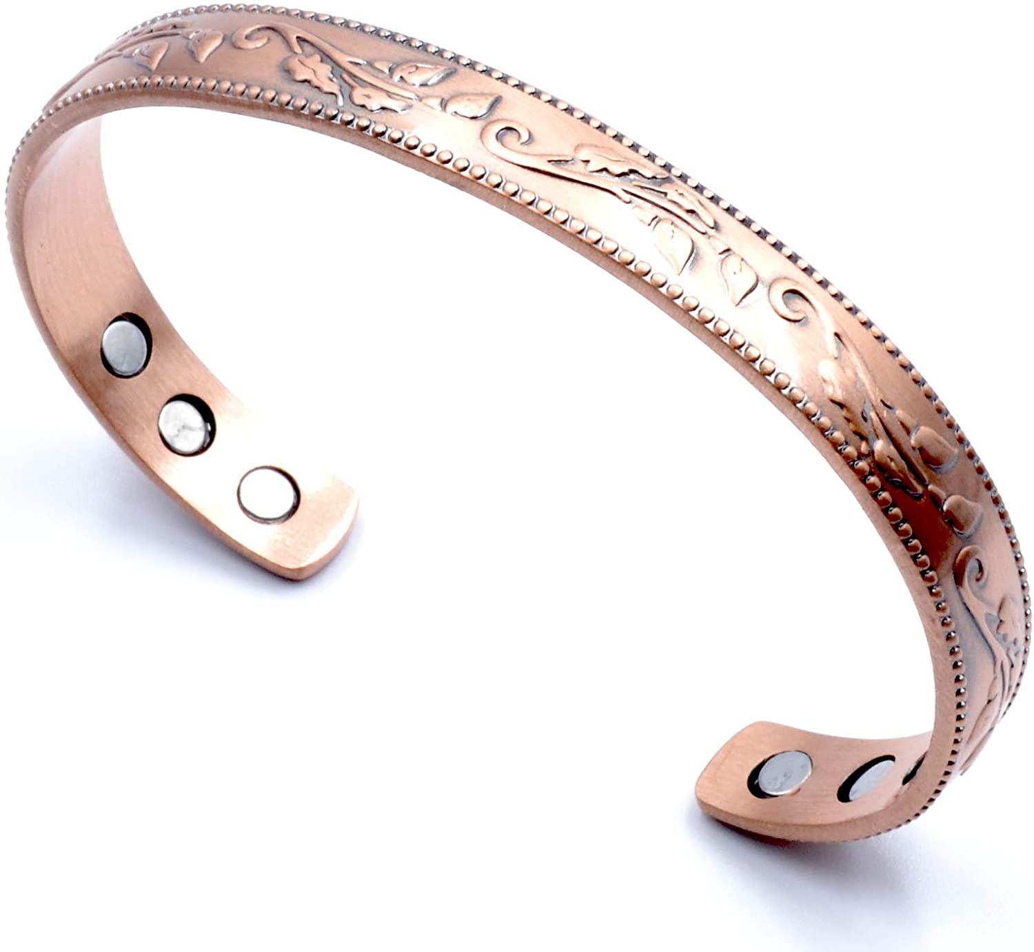 Copper woman bracelet Handmade bracelet Copper jewelry Copper wire wrapped woman cuff Geometric bracelet with spirals Gift for her