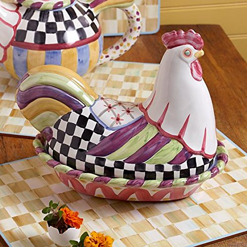 MacKenzie-Childs Resting Rooster Dish, Brand New with Tags