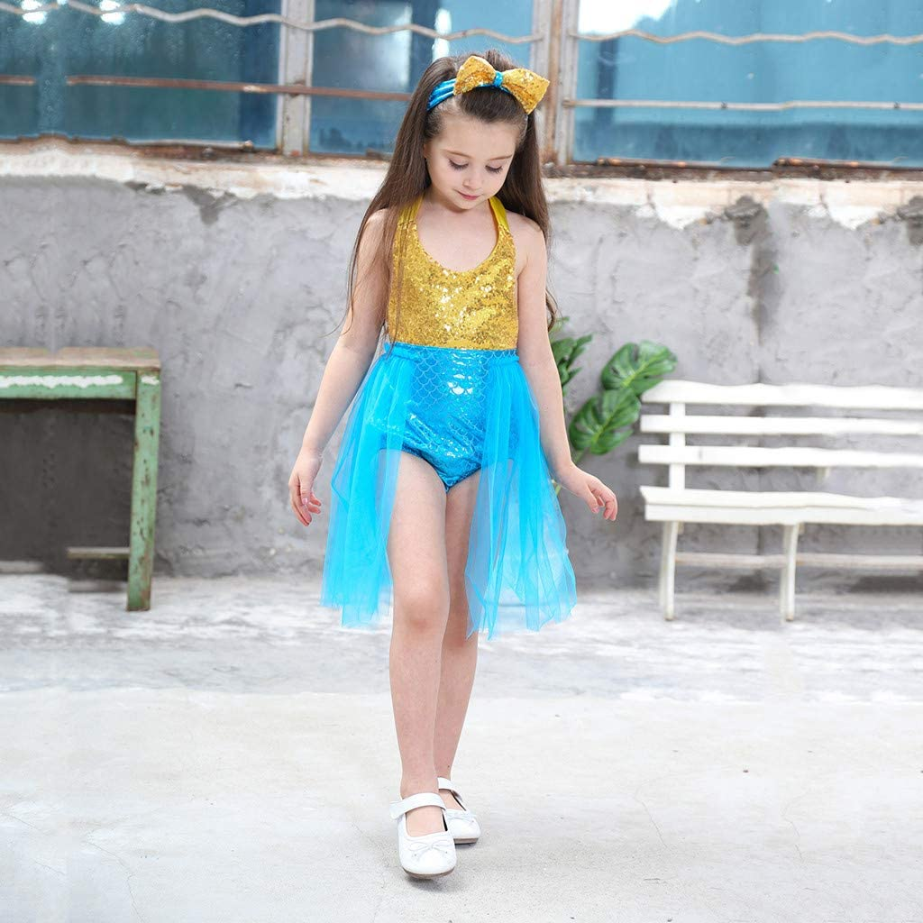 Girls Swimwear Sale Toddler Kids Baby Girl Sleeveless Tulle Dress Swimwear Swimsuit Bikini Outfits UK Size Summer Beach Wear