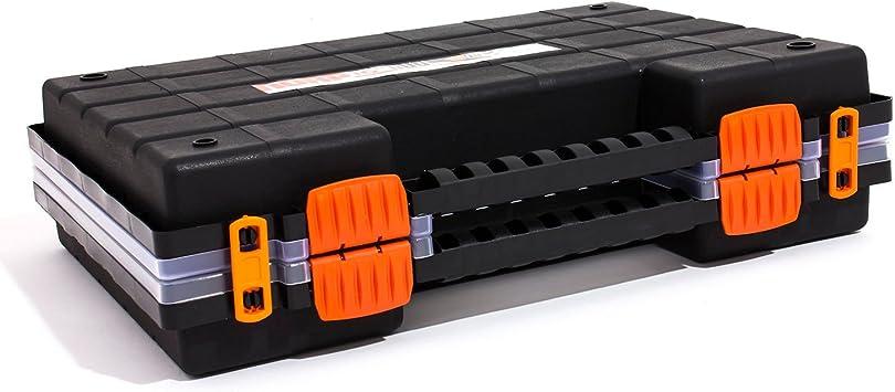 Malet/ín organizador con 42/cajas peque/ñas extra/íbles Prosperplast NOR DUO NORP16DUO compuesto de dos mitades 1/pieza