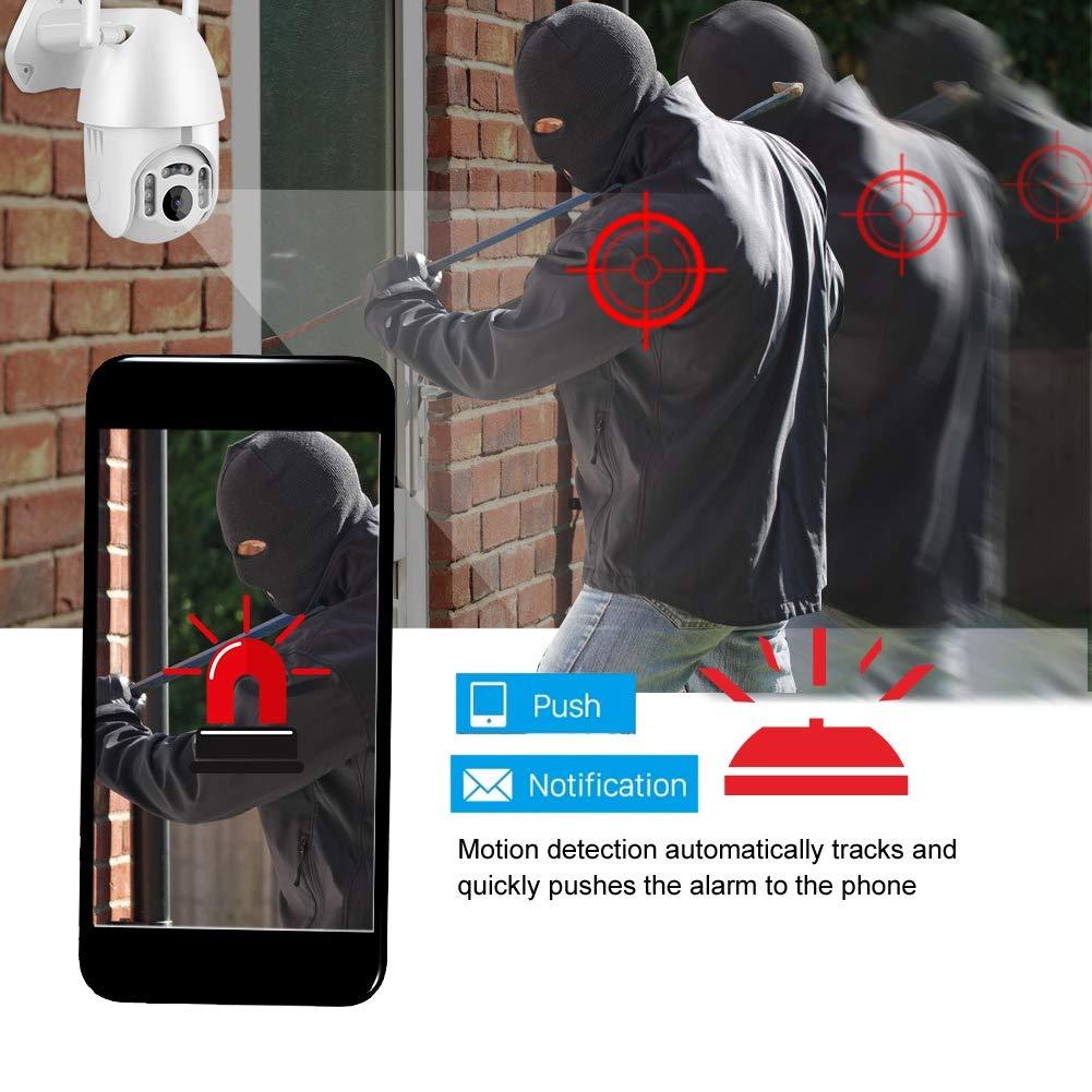 Rosvola C/ámara inal/ámbrica Inteligente WiFi UE 1080P WiFi C/ámara de Seguridad Domo PTZ Impermeable al Aire Libre Tuya IP CCTV para hogar Interior al Aire Libre Beb/é Seguridad para Mascotas