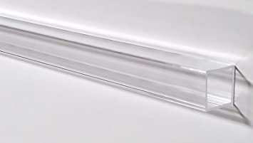 Pack of 4 Clear Acrylic Square Tube 3//8 ID x 1//2 OD x 36 L