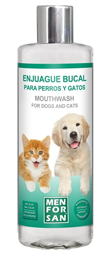 MENFORSAN Enjuague bucal para Perros y Gatos 310 ML para Perro