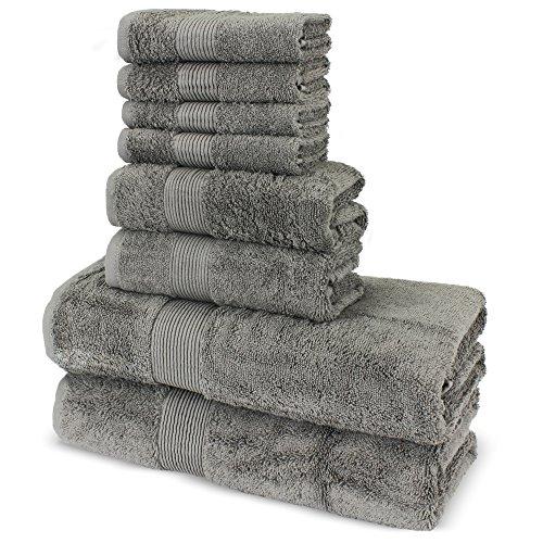 Towel Bazaar Premium 100% Turkish Cotton 8 Pieces Towel Set