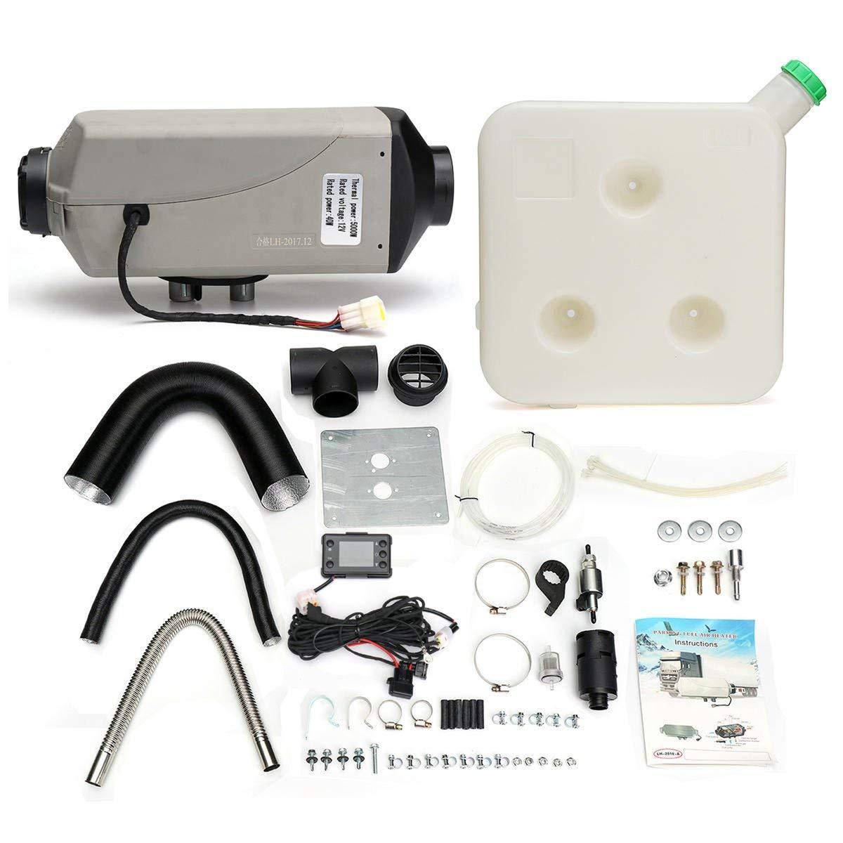 Gugutogo 8kw / 12v einzelner LCD-Schalter-Schalldämpfer-Auto-Diesel-Lufterhitzer für Stiefel RV-LKW