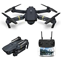 Drone With Camera Live Video, EACHINE E58 WIFI FPV Quadcopter With 120° Wide-angle720P HD Camera Altitude Hold Mode Foldable APP Control Pocket Drone RTF