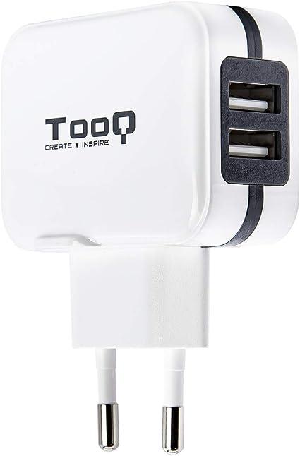 TooQ TQWC-1S02WT - Cargador de pared con 2 x USB (5V - 3.4 A, 17 W ...