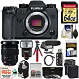 Fujifilm X-H1 Wi-Fi Digital Camera Body 16-55mm f/2.8 XF Lens + 64GB Card + Battery & Charger + Backpack + Tripod + Flash + Filter Kit