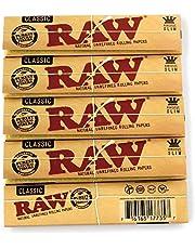 RAW 1 5 boekje Classic King Size Long Paper, Geel, S