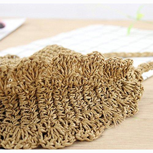 Donalworld Women Beach Bag Round Straw Crochet Shoulder Summer Bag Purse S Shlcf by Donalworld (Image #7)