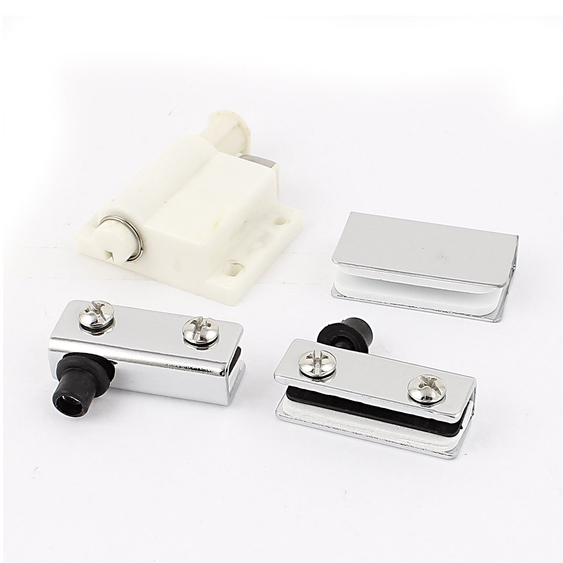 Aexit Ensemble de clips de loqueteaux verrouillables avec porte en verre /à 1 porte blanc cass/é