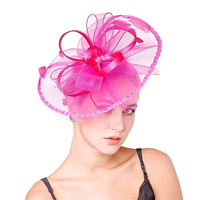 Derby Hats for Military Charity Balls Banquet Festival Noble Horse Race  Event Victoria Costume 8481414c0bd
