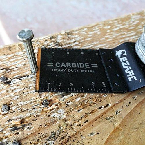 EZARC Oscillating Multitool Blade Carbide Teeth for Hard Material, 1-Pack by EZARC (Image #1)