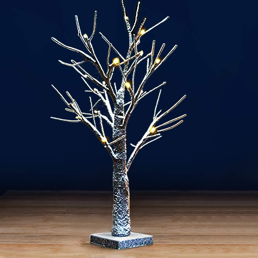 """Bright Zeal 17.5"""" LED Birch Tree Light with Timer - Easter Egg Tree Light Table Top Decor - Money Tree Gift Holder Light Indoor - Decorative Bonsai Tree Light for Home, Party, Wedding, Festival"""