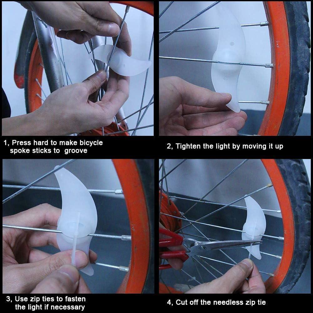 Oumers 6pcs Bike Spoke Light Waterproof Wheel Light Cycling Spokelit Bicycle ...
