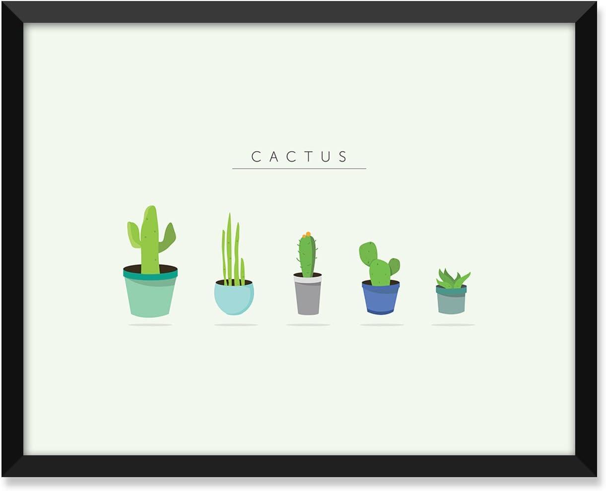 Amazon Com Serif Design Studios Cactus Cute Modern Illustration Minimalist Poster Home Decor College Dorm Room Decorations Wall Art Posters Prints