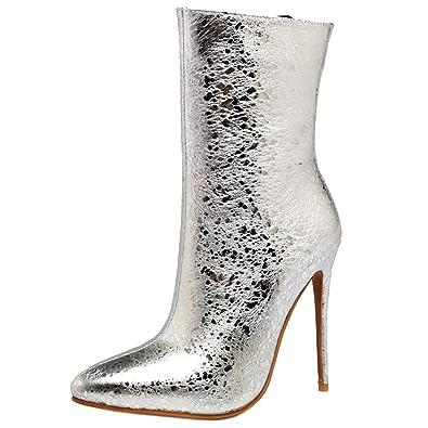 6cabefbfd928 YE Bottines Sexy Femme High Heels Stiletto Hiver Bottes à Talons Hauts  Aiguilles Bout Pointu Ankle